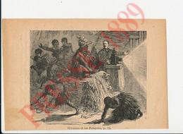 4 Vues 1889 Prestidigitateur Hermann à Montévidéo Patagons + Bidel Forain Cirque Dompteur 7ANN - Unclassified