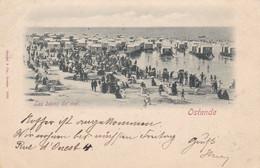 OOSTENDE - OSTENDE - FLANDRE OCCIDENTALE  - BELGIE - BELGIQUE -  CPA ANIMEE DE 1897 - BEL AFFRANCHISSEMENT POSTAL. - Oostende