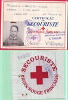 Guerre 1939-45 CROIX-ROUGE FRANÇAISE Carte De Secouriste Michel SARASQUETA 7/1942 N°11.308 Et Centre De Brassard 11.308 - Oorlog 1939-45