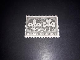 """A8MIX11 BELGIO 1957 CENTENARIO DELLA NASCITA DI LORD POWELL CENTENARIO SCOTISMO """"XX"""" - Unused Stamps"""