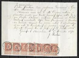 OBP57 (7x) Op Brief Van 16 Nov. 1895 Vanuit Havinnes Naar Bouillon - 1893-1900 Thin Beard