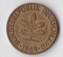 ALLEMAGNE  5  PFENNIG   ANNEE 1969 (LETTRE D  MUNICH)   LOT ALL2011 - 5 Pfennig