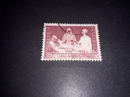 """A8MIX11 BELGIO 1957 CINQUANTENARIO DELLA SCUOLA INFERMIERE 30 C. """"O"""" - Used Stamps"""