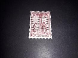 """A8MIX11 BELGIO 1957 GIORNATA DEL FRANCOBOLLO 2 F. """"O"""" - Used Stamps"""