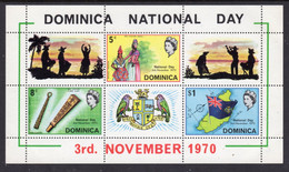 DOMINICA - 1970 NATIONAL DAY MS FINE MNH ** SG MS311 - Dominica (...-1978)