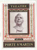 JC , Programme , Spectacle ,THEATRE De La Porte ST MARTIN, Cyrano De Bergerac, 1921, Frais Fr 3.30 € - Programma's