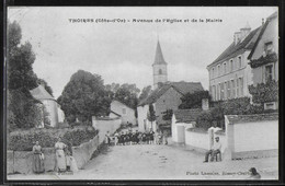 CPA 21 - Thoires, Avenue De L'Eglise Et De La Mairie - Autres Communes