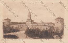CARTOLINA MILANO LOMBARDIA,CASTELLO SFORZESCO, IMPERO ROMANO, STORIA, CULTURA, RELIGIONE, VIAGGIATA 1923 - Milano (Milan)