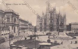 CARTOLINA MILANO LOMBARDIA,PIAZZA DEL DUOMO, IMPERO ROMANO, STORIA, CULTURA, RELIGIONE, VIAGGIATA 1931 - Milano (Milan)