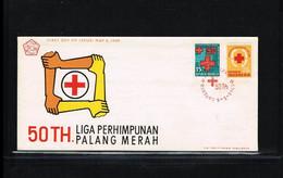 1969 - Indonesia FDC ZB 643-644 - Health & Medicine - Red Cross [ZV108] - Indonesia