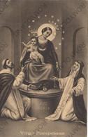 CARTOLINA   AVE MARIA,VIRGO POMPEIANA, CU TEMA RELIGIONE VIAGGIATA 1935 - Milano (Milan)