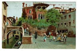 Ref 1452  - Early Italy Postcard - Rio Delle Torreselle Venezia Venice - Venetië (Venice)