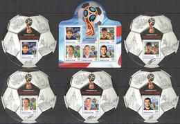 2016 BURUNDI FOOTBALL WORLD CUP RUSSIA 2018 SPORT ARCHAVINE KERJAKOV IGNACHEVITCH 1KB+5BL MNH - 2018 – Rusland