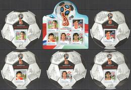 2016 BURUNDI FOOTBALL WORLD CUP RUSSIA 2018 SPORT DOBROVOLSKI MOSTOVOI 1KB+5BL MNH - 2018 – Rusland