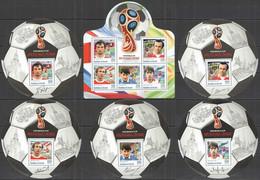 2016 BURUNDI FOOTBALL WORLD CUP RUSSIA 2018 SPORT GAVRILOV ROMANTSEV DASAEV 1KB+5BL MNH - 2018 – Rusland