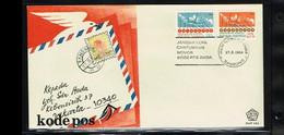 1984 - Indonesia FDC E161 - Post & Telecom - Postal Code [ZK040] - Indonesia