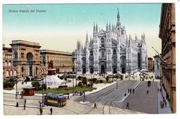 Ref 1454 - Early Postcard - Milano Italy - Piazza Del Duomo - Trams - Milano (Milan)