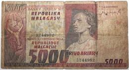 Madagascar - 5000 Francs - 1974 - PICK 66a - AB - Madagascar