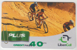 LEBANON - Premiere Plus - Mountain Bikes, Libancell Recharge Card 40 Units, Exp.date 18/09/05, Used - Libanon
