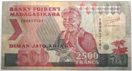 Madagascar - 2500 Francs - 1993 - PICK 72 Aa - TB+ - Madagascar