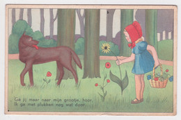 CPA Roodkapje, Le Petit Chaperon Rouge, Little Red Riding Hood - Vertellingen, Fabels & Legenden