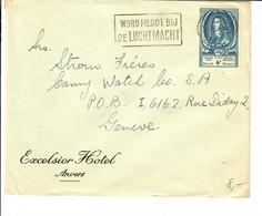 BELGIQUE BELGIE 1952  Vers Genève Congres UPU - Covers & Documents
