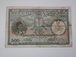 JUGOSLAVIA 500 DINARA 1935 - Yugoslavia