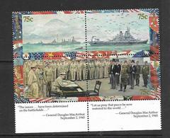 MARSHALL 1995 CAPITULATION JAPONAISE YVERT N°588/91 NEUF MNH** - WW2 (II Guerra Mundial)