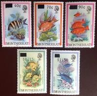 Montserrat 1983 Fish Surcharges MNH - Fische