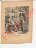 Gravure + Texte 1889 Alcool Et Poison Alcoolisme Absinthe Rhum Vermouth Kirsch ANN7 - Zonder Classificatie