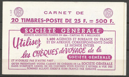 Carnet Type Muller - Y&T N° 1011C-C2 - Série 2-59 - Neuf** - Definitives
