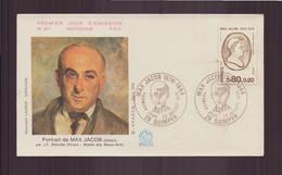 """France, FDC Enveloppe Du 22 Juillet 1976 à Quimper """" Portrait De Max Jacob """" - 1970-1979"""