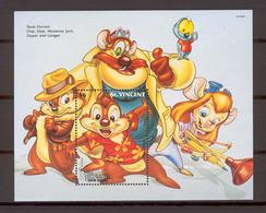 Disney St Vincent 1992 Chip N Dale - Resque Rangers MS MNH - Disney