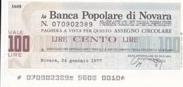 MINIASSEGNO BANCA POPOLARE DI NOVARA ASSOCIAZIONE DETTAGLIANTI TESSILI ABBIGLIAMENTO PROVINCIA DI MILANO - [10] Cheques Y Mini-cheques