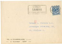 1951 1 Plikart(en) - Postkaart(en) - Zie Zegels, Stempels, Hoofding POL. DE SCHAMPHELAERE Gent Rubber Eboniet Asbest Bak - Covers & Documents
