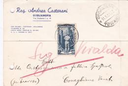 ITALIA - GIULIANOVA (TE) - STORIA POSTALE - RAG. ANDREA CASTORANI - VG PER CONEGLIANO VENETO (TV) - 1946-60: Poststempel