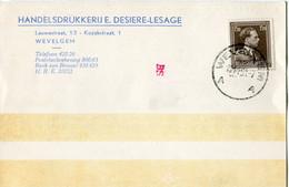 1953 1 Plikart(en) - Postkaart(en) - Zie Zegels, Stempels, Hoofding E. DESIERE LESAGE Wevelgem - Handelsdrukkerij  Impri - Covers & Documents