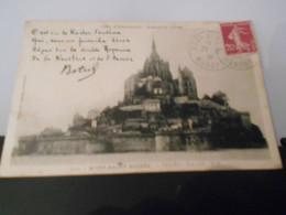 France Semeuse Camee , Carte Du Mont St Michel 1934 Pour Mondidier - 1906-38 Semeuse Camée