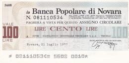 MINIASSEGNO BANCA POPOLARE DI NOVARA SIVER SCATOLIFICIO INDUSTRIALE VERCELLESE S.P.A. VERCELLI - [10] Cheques Y Mini-cheques