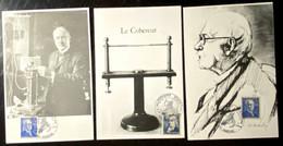 3 Document Différents Pour Les 100 Ans De Communication Avec Timbres N° 599 & 619 - Cachet Amiens 22/09/1990 - Gedenkstempels