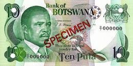 BOTSWANA 1982 10 Pula (D/7 000000) - P09s.1  Neuf - UNC - Botswana