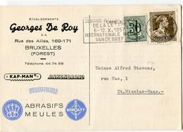 1957 1 Plikart(en) - Postkaart(en) - Zie Zegels, Stempels, Hoofding GEORGES DE ROY - Forest Vorst - FELDMUHLE KOHOLIT - Covers & Documents