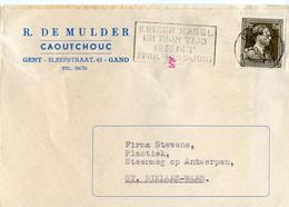 1955 1 Plikart(en) - Postkaart(en) - Zie Zegels, Stempels, Hoofding R. DE MULDER Gent Gand - Caoutchouc Rubber - Covers & Documents