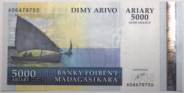 Madagascar - 5000 Ariary - 2003 - PICK 84 - NEUF - Madagascar