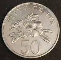 SINGAPOUR - SINGAPORE - 50 CENTS 1995 - KM 102 - ( Blason Bas ) - Singapore