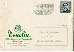 1957 1 Plikart(en) - Postkaart(en) - Zie Zegels, Stempels, Hoofding DENOLIN Brxl -  GD La Plante Sous Tous Ses Formes - Covers & Documents