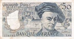 BILLETS DE 50 FRANCS  1991  MAURICE QUENTIN DE LA TOUR - 50 F 1976-1992 ''Quentin De La Tour''