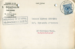 1952 1 Plikart(en) - Postkaart(en) - Zie Zegels, Stempels, Hoofding S. DEMOULIN Farciennes  Fonderies De Fer - Chauffage - Covers & Documents