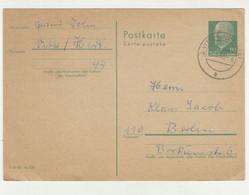 Germany DDR Postal Stationery Postcard Posted 1966 210120 - Postales - Usados
