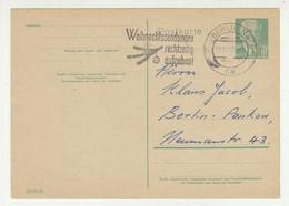 Germany DDR Postal Stationery Postcard Posted 1957 - Christmas Slogan Postmark 210120 - Postales - Usados